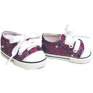 18 Inch Doll Sneakers. Purple Glitter Sophias Doll Sneakers Shoes Fit 18 Inch American Girl Dolls & More! Purple Glitter