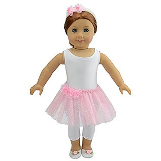 Doll Clothes 4pcs Ballet Recital Outfit for 18 Inches American Girl Dolls and Alike