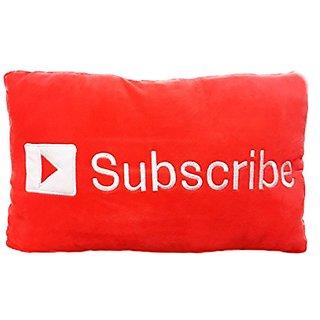 Samgo Chat Bubble Button Plush Throw Cushion Stuffed Plush Doll Toy Pillow- 35 X 33 X 5 Cm (Subscribe)