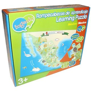 Ingenio Mexico Map Bilingual Learning Puzzle