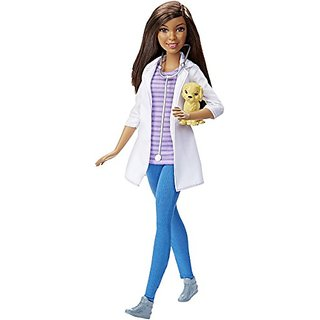 Barbie DHB19 Careers Veterinarian Doll, African-American