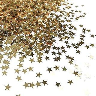 Bilipala Table Confetti, Star Confetti, Party Supplies, 0.4 Inch, 1 Ounce, Golden