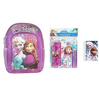 Disney Frozen Back to School Set - Includes Backpack, 11pc Stationery Set, & Bonus Mini Notebook