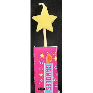 Star Shaped Birthday Candle