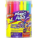 The original and amazing Magic Pens by Wham-O that change and erase color like magic!-Kit includes 20 markers including