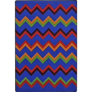 Joy Carpets Kid Essentials Sonic Teen Area Rugs, 64-Inch by 92-Inch by 0.36-Inch, Primary