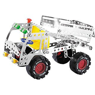 3D Assembly Metal Truck Vehicles Model Kits Toy Car Building Puzzles Construction Play Set for Kids Children Boys and Gi