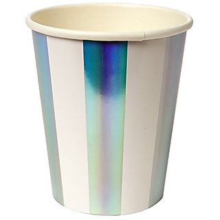 Meri Meri Foiled Stripe Party Cups 45-2456, Set of 8