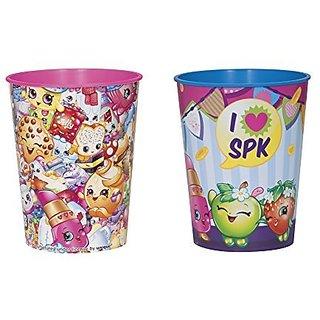 2 16oz Shopkins Collection Plastic Cup