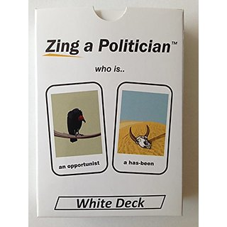 Zing a Politician - White Party Cards