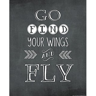 Heritage 1093 Go Find Your Wings Wall Decor, 25 x 20-Inch