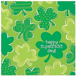 Amscan Playful Shamrocks Beverage Napkins