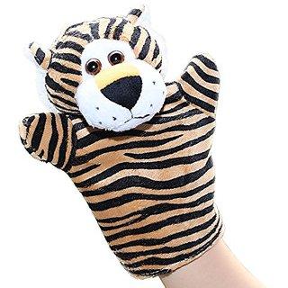LUCKSTAR(TM) 1PC Cute Velvet Animal Style Hand & Finger Puppet Toy Plush Toy For Kids Preschool Kindergarten (Tiger)