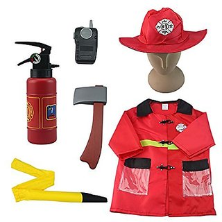 iplay, ilearn Fire Chief Role Play Costume Set (3-6 Years)