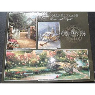 Thomas Kinkade Painter of Light - Deluxe Puzzle Set 3 Full Size Puzzles