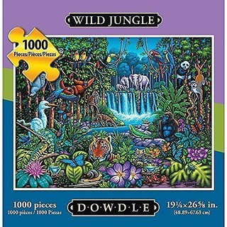 Wild Jungle 1000 Piece Puzzle by Dowdle Folk Art