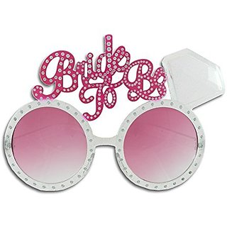 Bachelorette Bride to Be Diamond Ring Fun Glasses