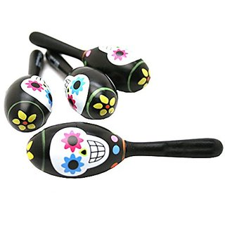 Day Of The Dead Maracas : package of 12