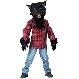 Black Werewolf Boy Kids Costume
