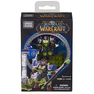 Buildable Night Elf Druid micro action figure with customizable armor.-Collectable chest plate, shoulder pads and spear