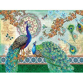 Royal Peacocks a 500-Piece Jigsaw Puzzle by Sunsout Inc.