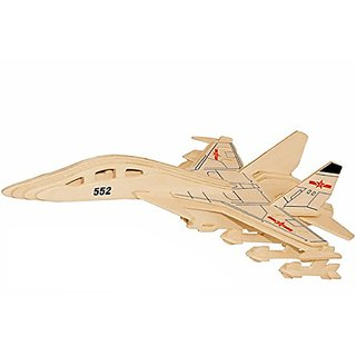 Smilelove 3D Wooden Puzzle Aeroplane Jian 15 Fighter Jigsaw Puzzle Diy Toy for Adult Kids
