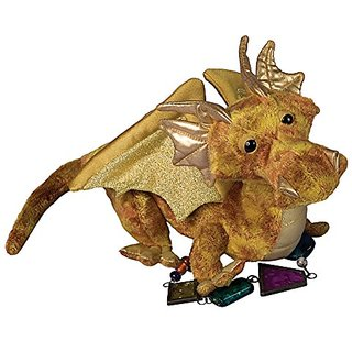 Plush Topaz Golden Dragon 15