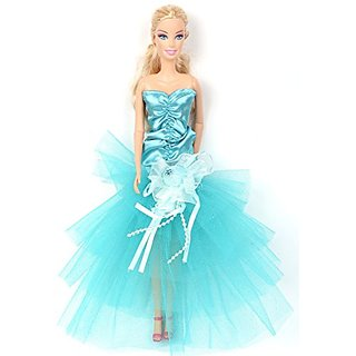 Banana Kong Lovely Girl Dolls Light Blue Strapless Alluring Party Gown