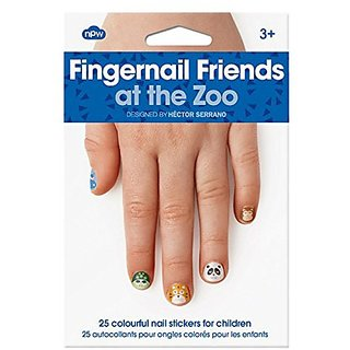 NPW At The Zoo Fingernail Friends Nail Stickers (25 Count)