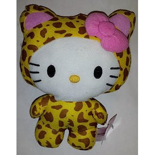 Large 10 Inch Leopard Hello Kitty Big Top Circus Animal Plush Doll