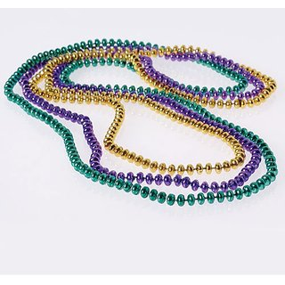 Mardi Gras Flat Bead Necklaces