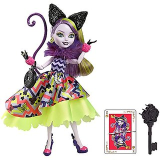 Ever After High Way Too Wonderland Kitty Chesire Doll