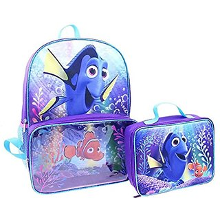 Disney Finding Dory Backpack and Lunch Bag Full Size 16 Inch