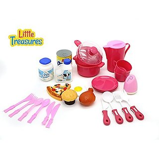 Little Treasures Family Meal Time Miniture Kitchen Serving set for kids