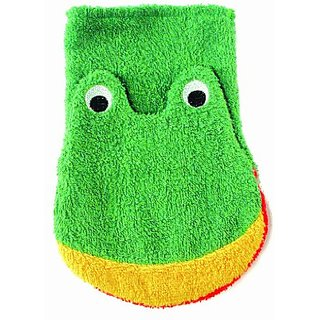 Washcloth Hand Puppet Frog By Furnis Large