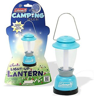 18 Inch Doll Camp Accessory-Aqua Coleman Lantern, Really Lights Up! Batteries Included (2x LR44), Adorable Little Lante