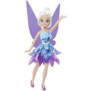 Periwinkle is dressed in trendy dazzling floral inspired fashion-Wings match her floral inspired fashion-Perfect gift f