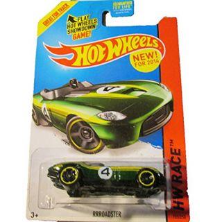 Hot Wheels - 2014 HW Race 155 250 - Thrill Racers - RRRoadster (green)