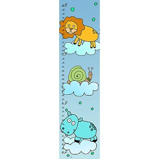 Green Leaf Art Leon and Hippo Growth Chart