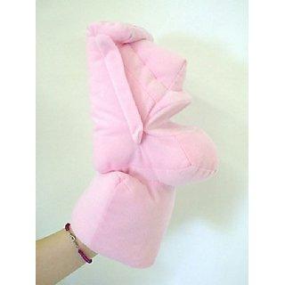 Moai Hand Puppet Stuffed Toy Pink