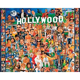 White Mountain Puzzles Hollywood - 1000 Piece Jigsaw Puzzle