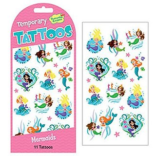 Peaceable Kingdom Mermaids Temporary Tattoos