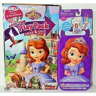 Play Pack Includes: 6 Crayons, 4 Markers-44 Coloring and Activity Pages-25 Stickers, 3 Extra Sticker Sheets-1 Velvet Po