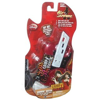 Disney Camp Rock Air Jammerz - Red Jammin Guitar with Pick and 2 Songs :