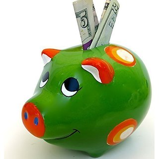 Childrens Christmas gift, Piggy toy Bank, ceramic Bank, size 8