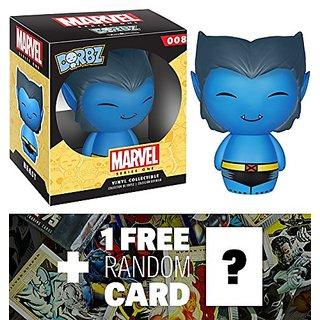 Beast: Funko Dorbz x Marvel Universe Mini Vinyl Figure + 1 FREE Official Marvel Trading Card Bundle [59491]