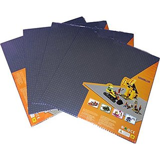 GREAT DEAL- 4 pieces of Dark Gray 50x50 Baseplate, 15.8