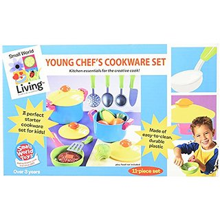 Small World Toys Living - Young Chef Cookware 11 Pc. Playset