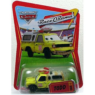 Disney Pixar CARS Movie 1:55 Die Cast Car Series 4 Race-O-Rama Todd Pizza Planet Truck