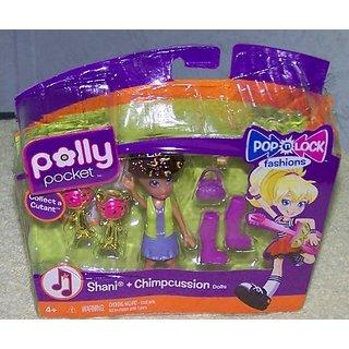 Polly Pocket Pop n Lock Shani & Chimpcussion Cutant